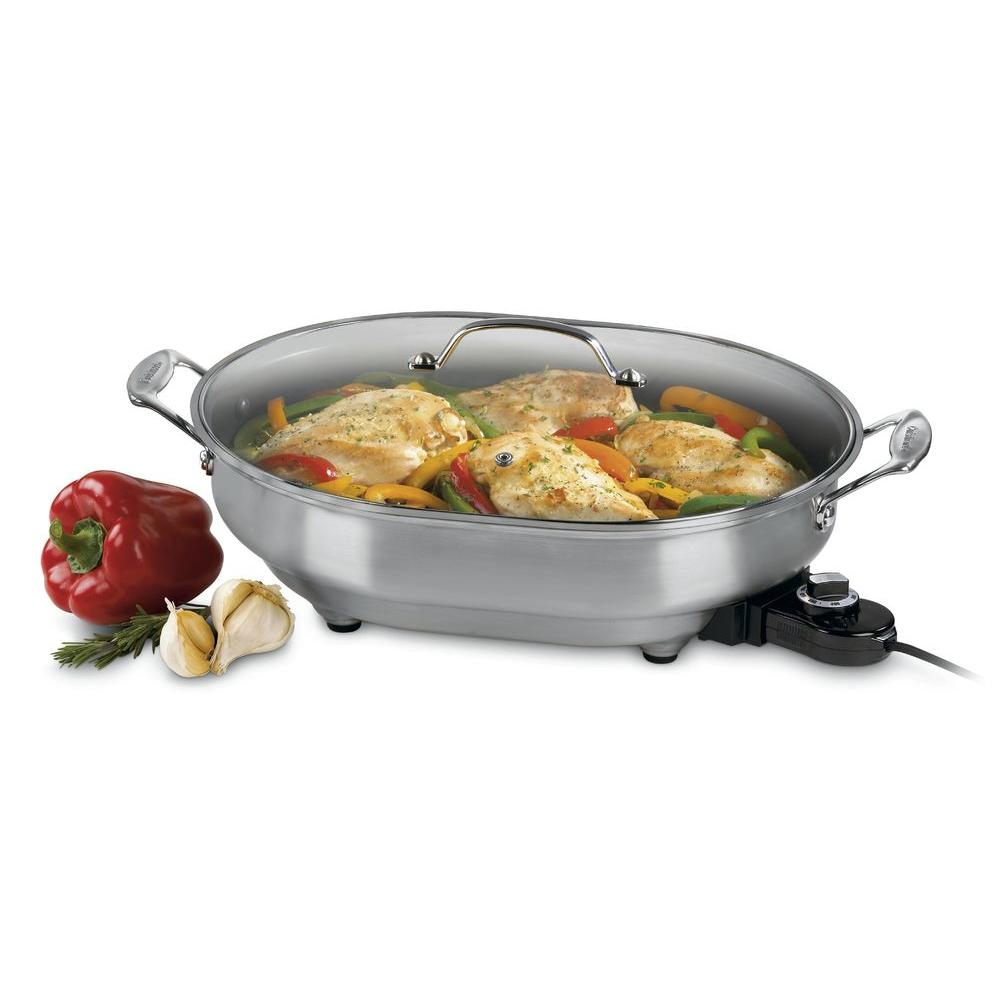 Non-Stick Electric Skillet, Silver