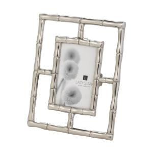 Silver Bamboo 1-Opening 4 inch x 6 inch Aluminum in Silver Finish Picture Frame by
