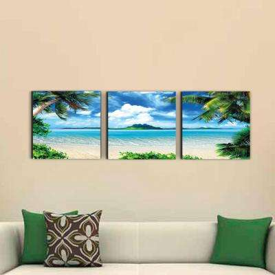 """16 in. x 48 in. """"Coconut Tree Scenery"""" Printed Wall Art"""