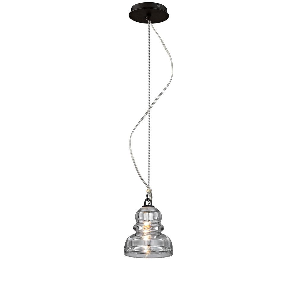 troy lighting menlo park 1 light deep bronze mini pendant with