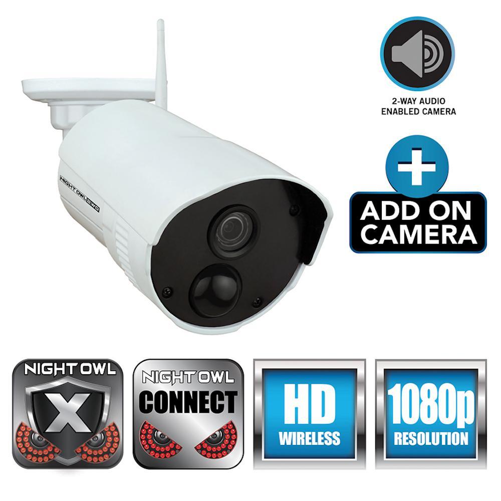 Add-On Indoor/Outdoor Wireless 1080p AC Powered Camera