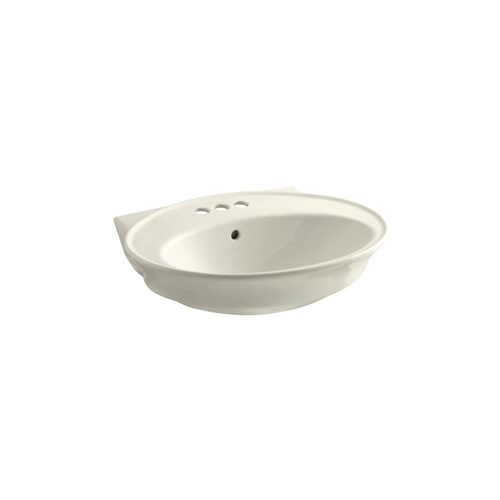 KOHLER Serif Pedestal Sink Basin in Biscuit