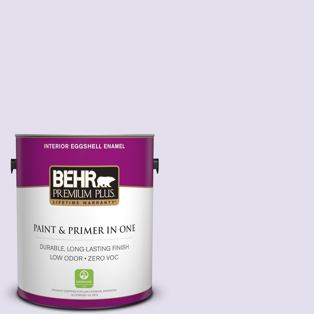 BEHR Premium Plus 1-gal. #650C-2 Powdery Mist Zero VOC Eggshell Enamel Interior Paint