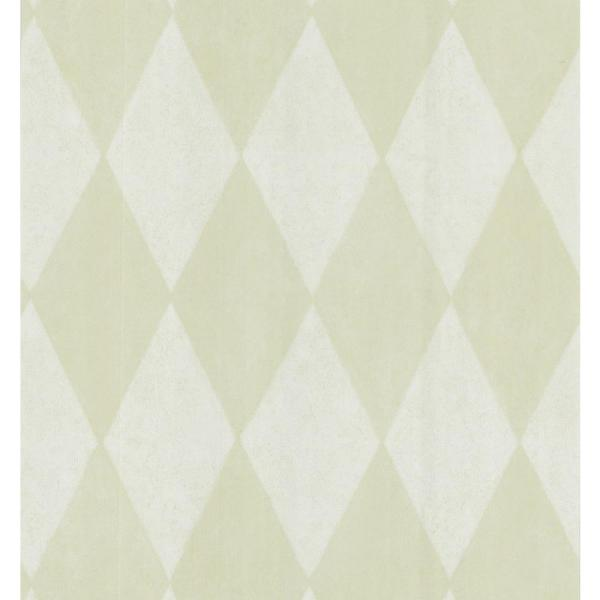 Brewster Simple Space Light Green Harlequin Wallpaper Sample 141-62136SAM