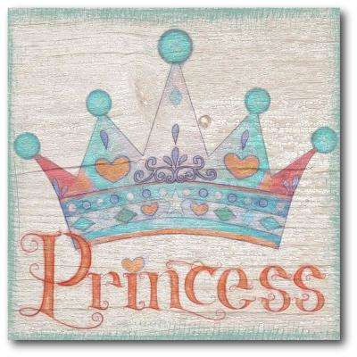 "16 in. x 16 in. ""Princess crown"" Gallery Wrapped Canvas Printed Wall Art"