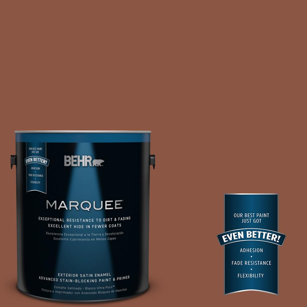 1-gal. #S180-7 True Copper Satin Enamel Exterior Paint
