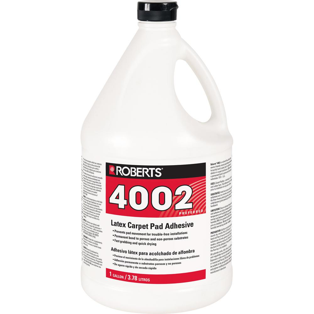 Roberts 4002 1 Gal Carpet Pad Glue Adhesive The Home Depot On Concrete Floor Detail Under Wiring System