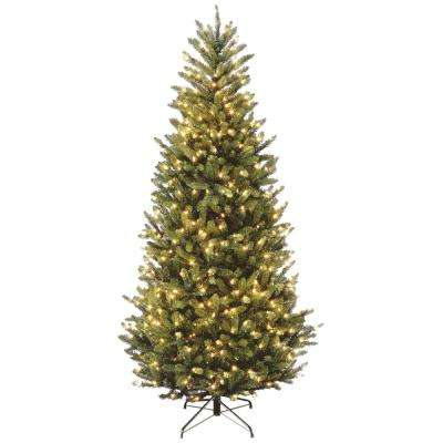 7-1/2 ft. Natural Fraser Slim Fir Hinged Artificial Christmas Tree with - Slim - Pre-Lit Christmas Trees - Artificial Christmas Trees - The