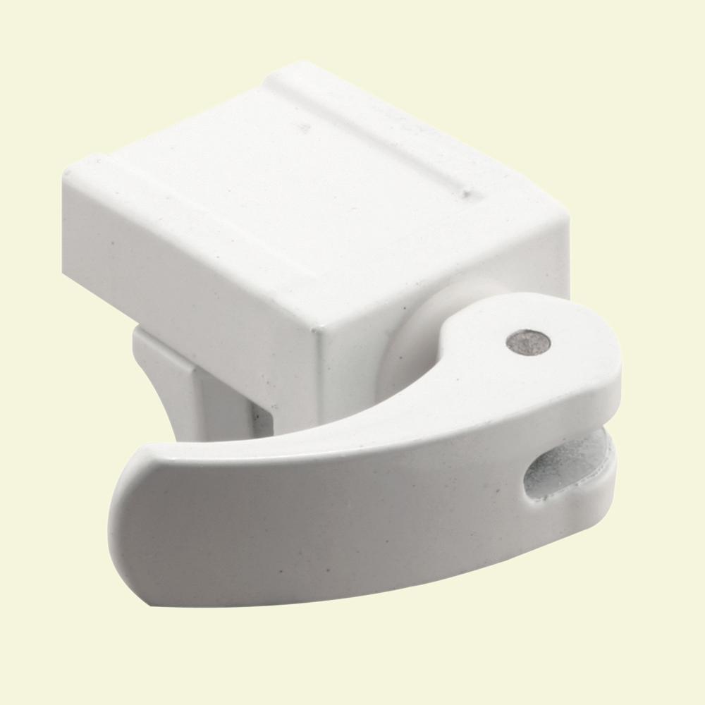 Prime-Line Sliding Window Lock, 1/2 in., Diecast Construction, White, For Vinyl Windows (2-pack)