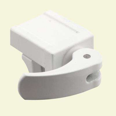 Sliding Window Lock, 1/2 in., Diecast Construction, White, For Vinyl Windows (2-pack)