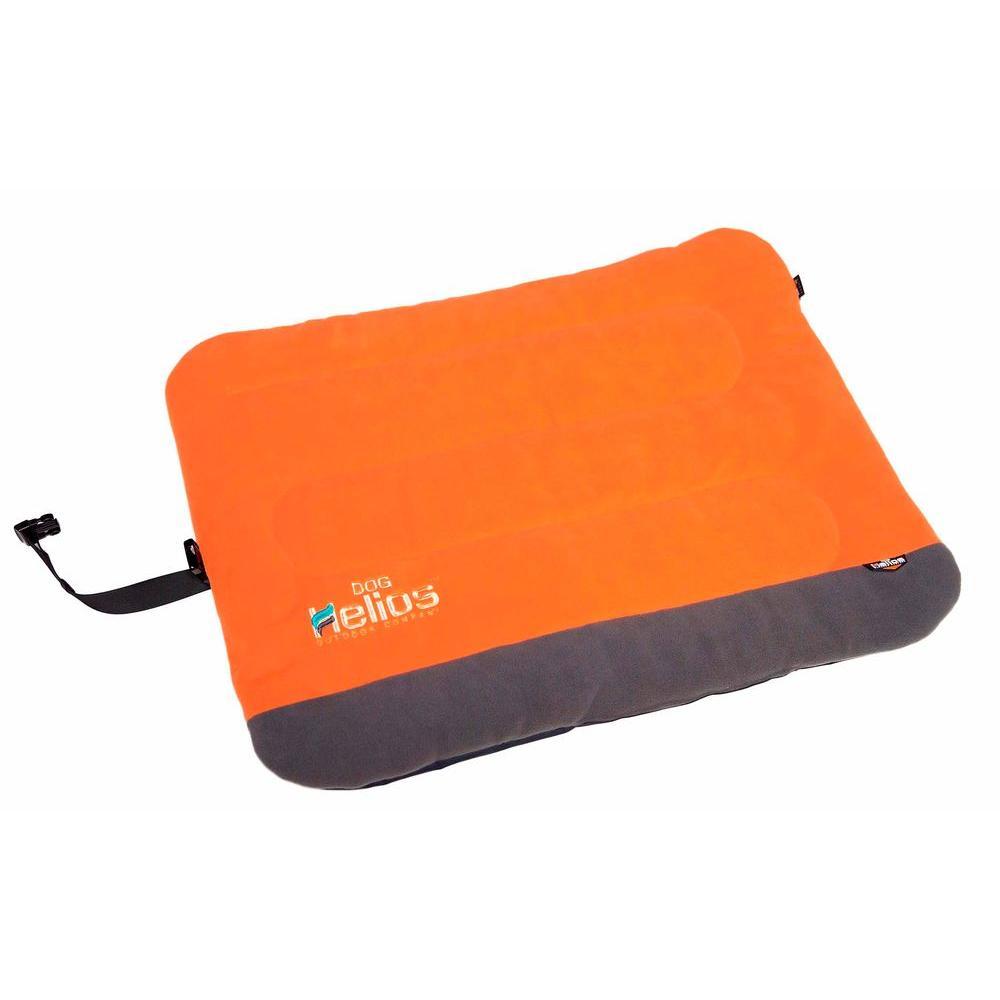 Medium Orange and Grey Bed