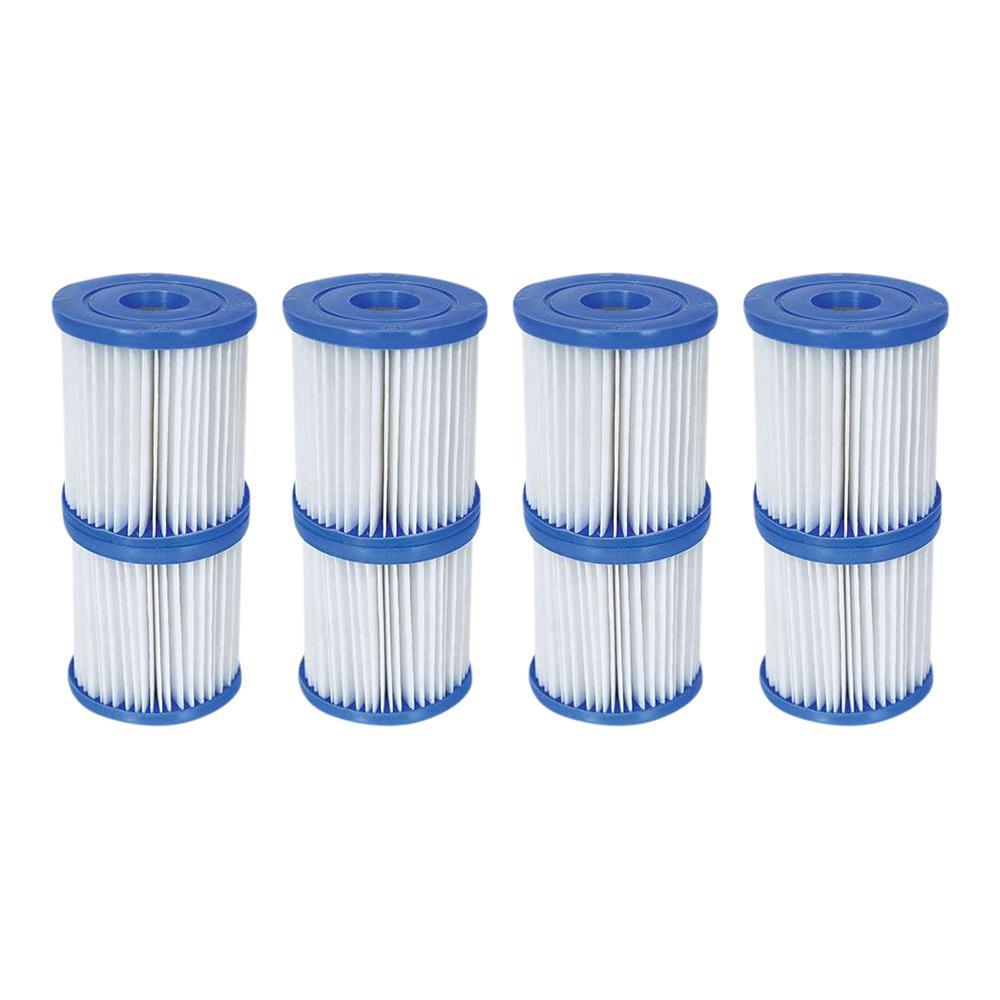 3.3 in. Dia 330 GPH Type V/K Pool Replacement Filter Cartridge (4-Pack)