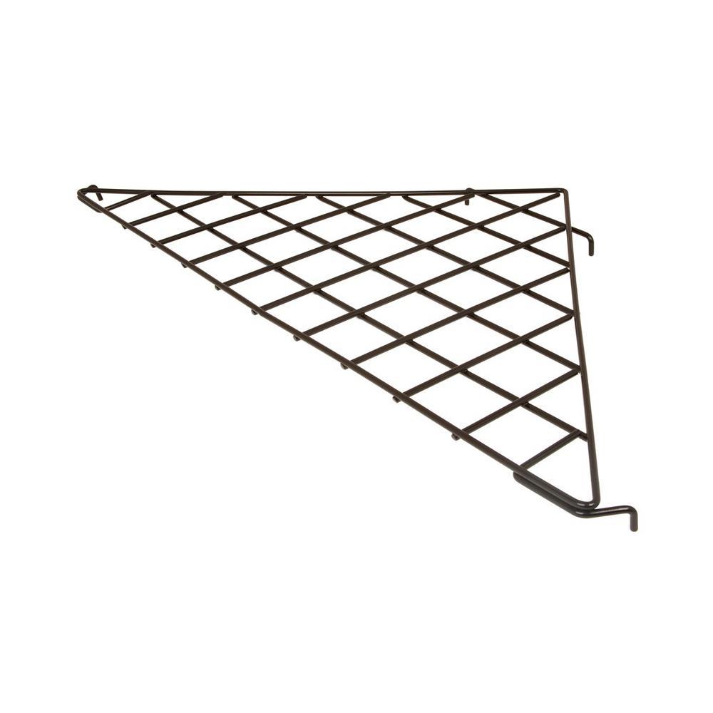 24 in. x 24 in. x 34-1/2 in. Triangular Black Wire Shelf