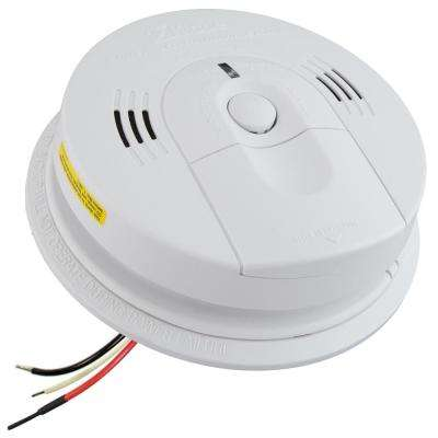 KN-COSM-IB 120-Volt Hardwired Interconnectable Ionization Alarm with Voice Warning Battery Back Up