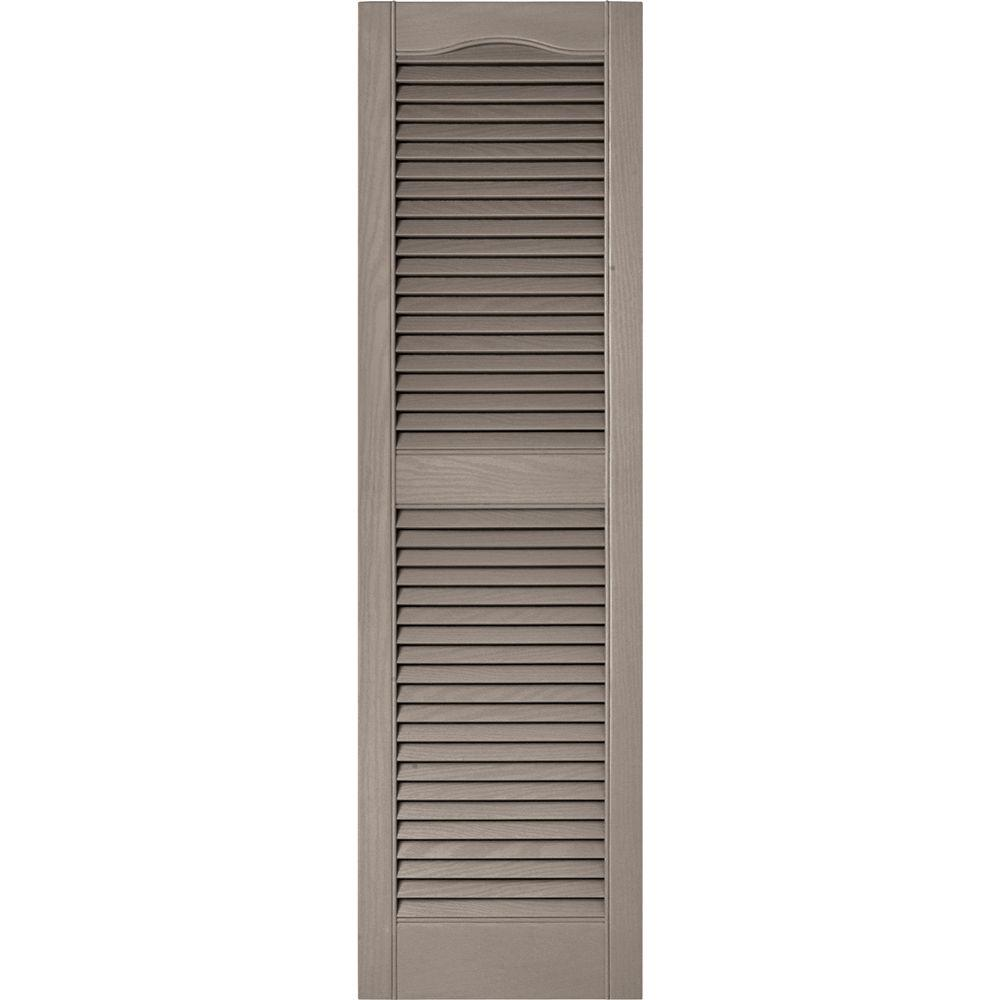 Reviews For Builders Edge 15 In X 52 In Louvered Vinyl Exterior Shutters Pair In 008 Clay 010140052008 The Home Depot