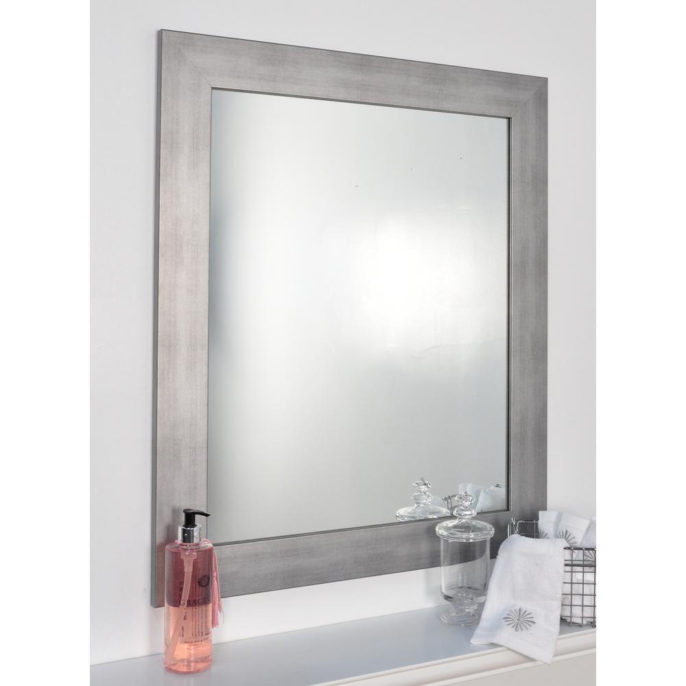 Cool Muted Silver Decorative Framed Wall Mirror