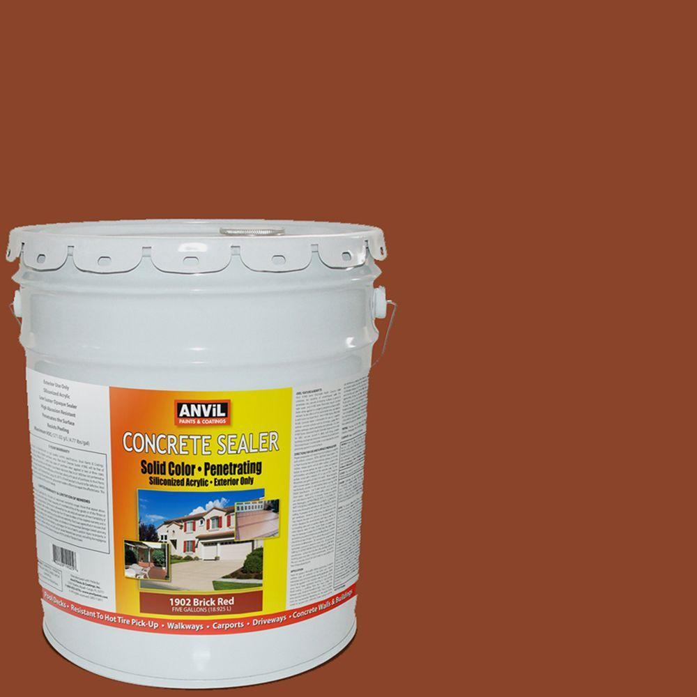 ANViL 5-gal. Brick Red Siliconized Acrylic Solid Color Exterior Concrete Sealer-DISCONTINUED