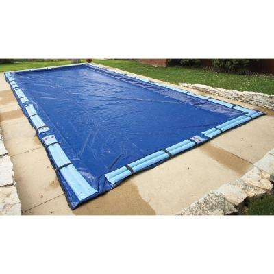 15-Year 16 ft. x 36 ft. Rectangular Royal Blue In Ground Winter Pool Cover