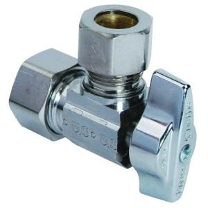 Brasscraft 1/2 inch Nominal Compression Inlet x 1/2 inch O.D. Compression Outlet Brass 1/4-Turn Angle Ball Valve... by BrassCraft