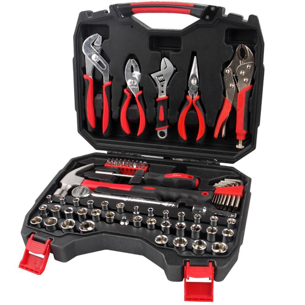apollo mechanics tool kit 80 piece dt4928 the home depot. Black Bedroom Furniture Sets. Home Design Ideas