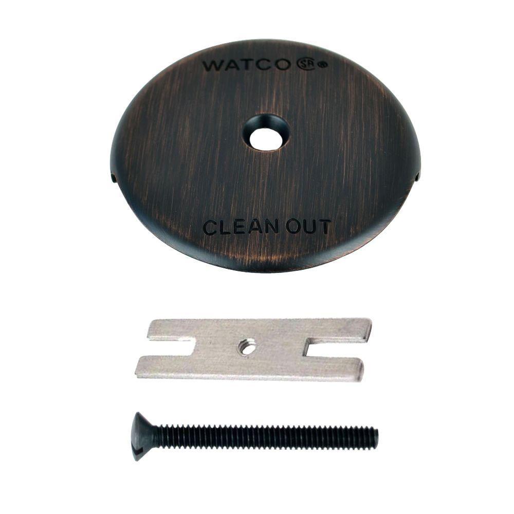 1-Hole Bathtub Overflow Plate Kit, Oil Rubbed Bronze