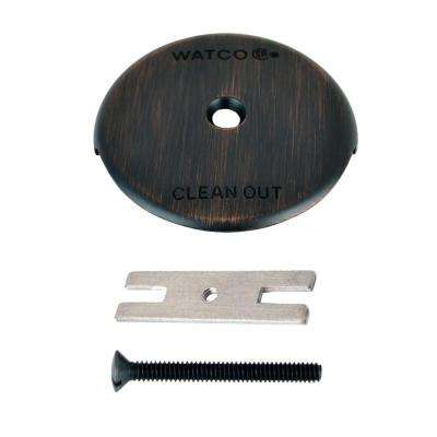 1-Hole Bathtub Overflow Plate Kit, Oil Rubbed Bronze