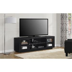 Internet #304285254. Ameriwood Young Lane 72 In. Black Oak TV Stand