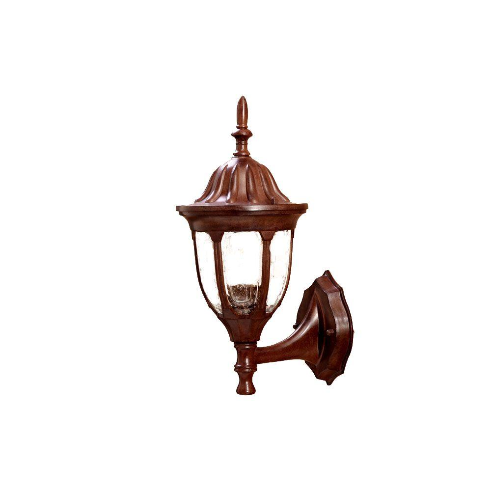 Acclaim Lighting Suffolk Collection 1-Light Burled Walnut Outdoor Wall-Mount Fixture