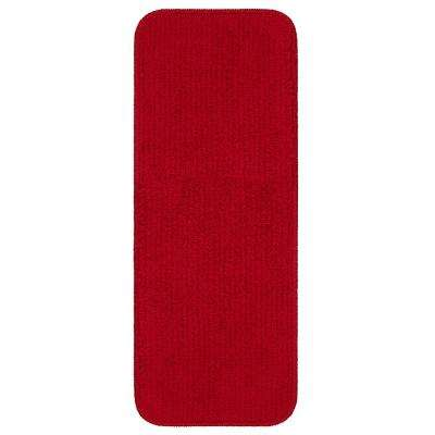 Softy Collection Red 9 in. x 26 in. Rubber Back Stair Tread Cover (Set of 14)