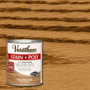 Varathane 1 Qt Golden Oak Stain And Polyurethane 266160 The Home Depot