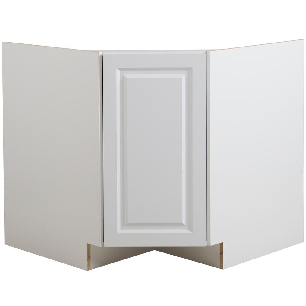 Reviews For Hampton Bay Benton Ready To Assemble 36x34 5x24 5 In Corner Sink Base Cabinet In White Bt3635c Wh The Home Depot