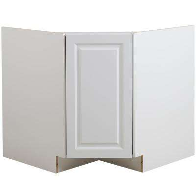 Benton Ready to Assemble 36x34.5x24.5 in. Corner Sink Base Cabinet in White