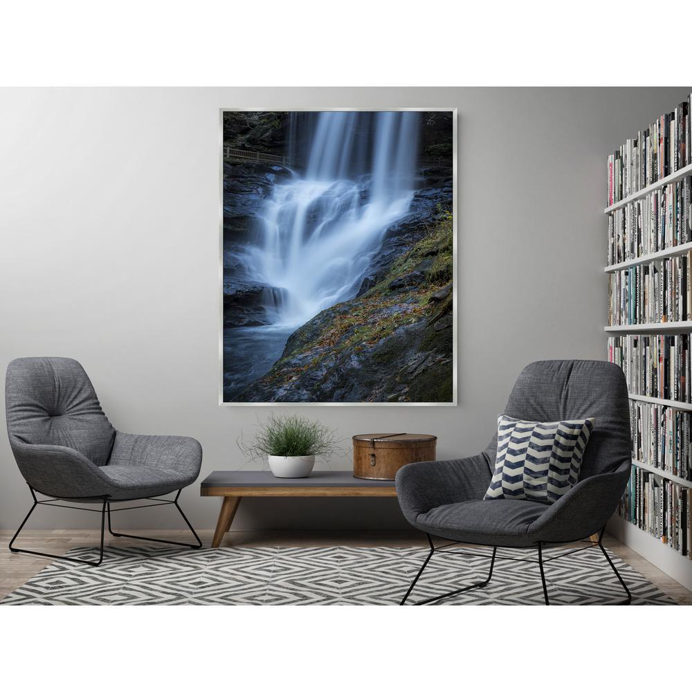 37.5 in. x 25.5 in. 'Dry Falls' by Jason Clemmons Fine Art Canvas Framed Print Wall Art