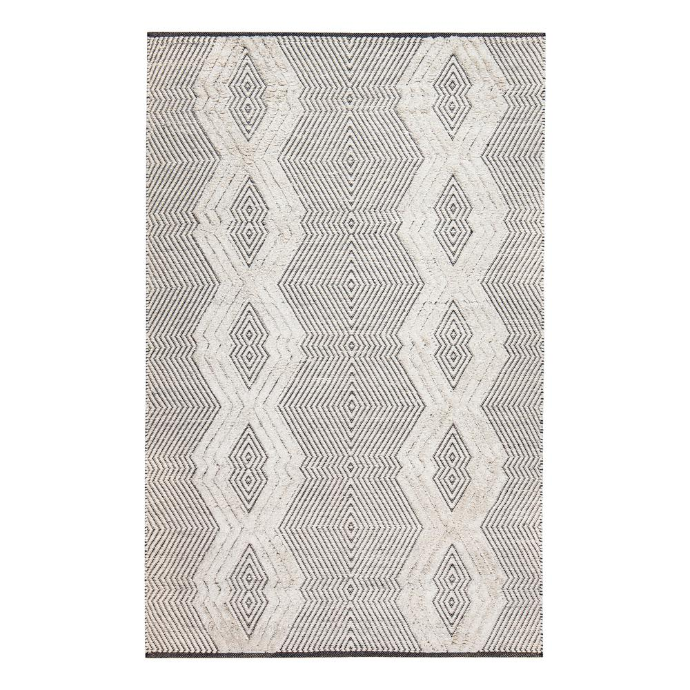 Joni Tufted Tribal White 8 ft. x 10 ft. Area Rug