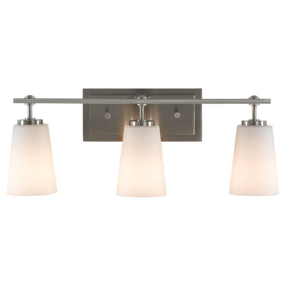 Sunset Drive 3-Light Brushed Steel Vanity Light