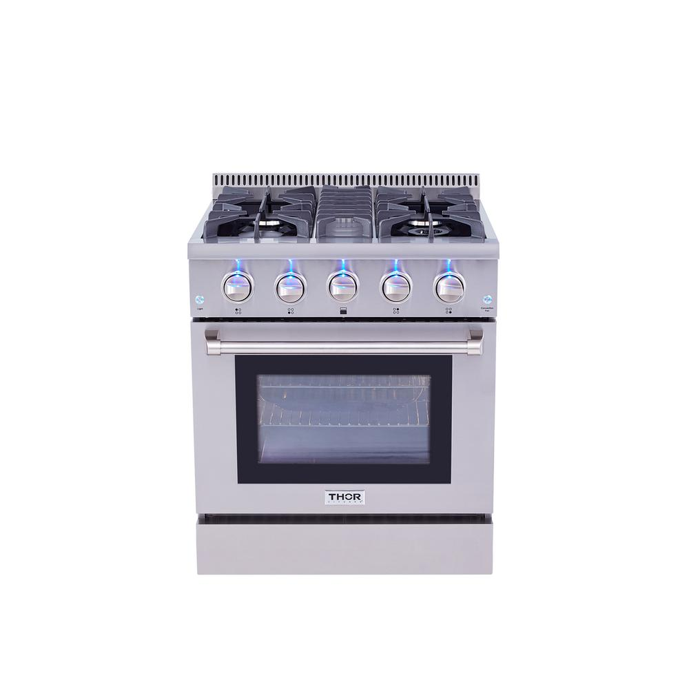 Thor Kitchen 30 In 4 2 Cu Ft Dual Fuel Range In Stainless Steel
