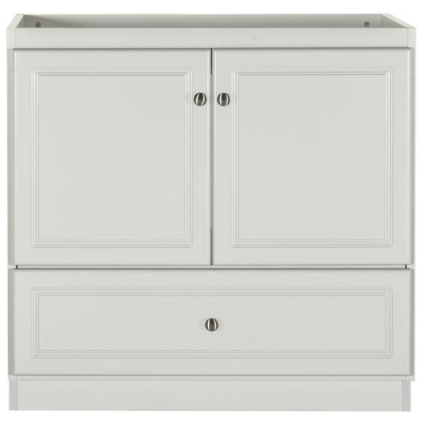 Ultraline 30 in. W x 21 in. D x 34.5 in. H Bath Vanity Cabinet Only with No Side Drawers in Dewy Morning