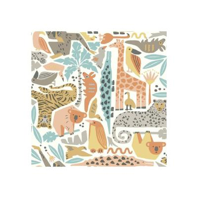 DwellStudio Baby and Kids Jungle Puzzle Wallpaper