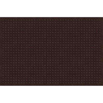 Brown 48 in. x 72 in. Synthetic Surface and Recycled Rubber Commercial Door Mat