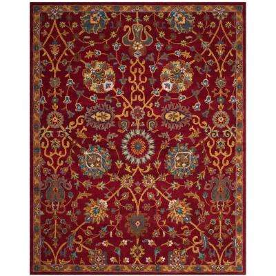 heritage red 8 ft x 10 ft area rug