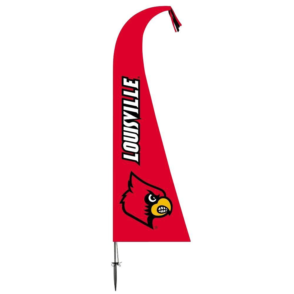 NCAA Louisville Cardinals Feather 1 ft. x 1.5 ft. Flag