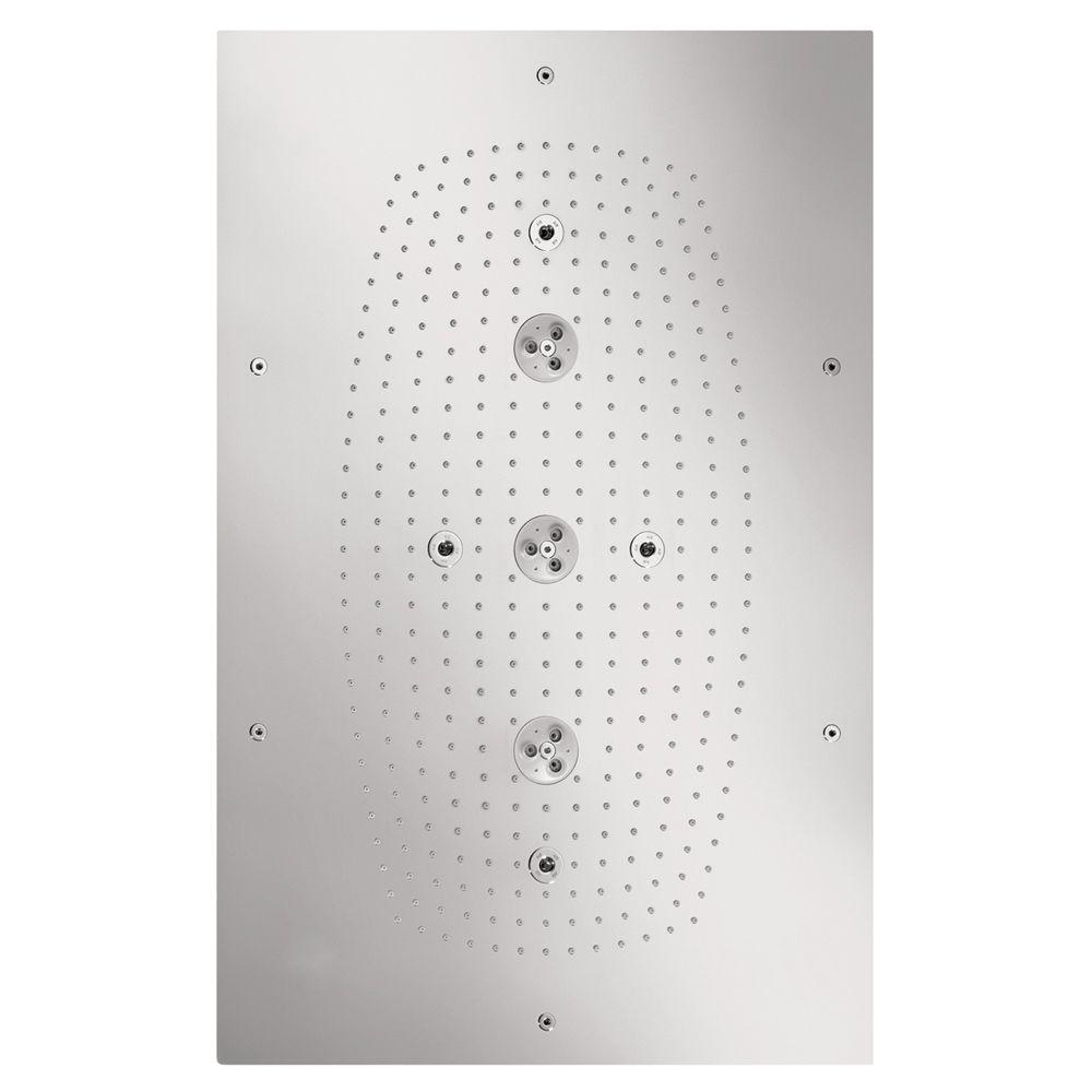 Hansgrohe Raindance Imperial 3-Spray 20 in. Square Air Showerhead in Chrome