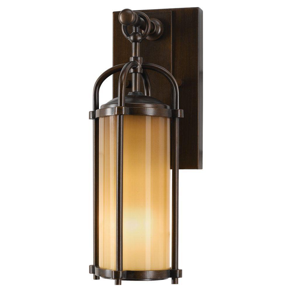 Dakota 1-Light Heritage Bronze Outdoor 13.25 in. Wall Lantern Sconce
