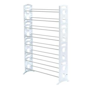 Whitmor Shoe Rack Collection 35.31 In. X 62.24 In. 50 Pair Resin Floor