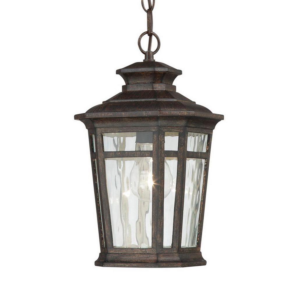 Waterton 1-Light Dark Ridge Bronze Outdoor Hanging Lantern