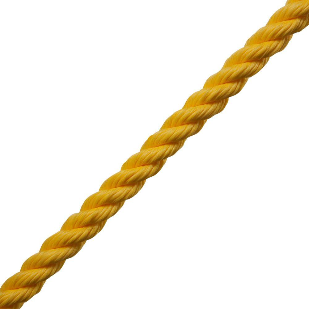 1/4 in. x 1 ft. Twisted Poly Rope in Yellow