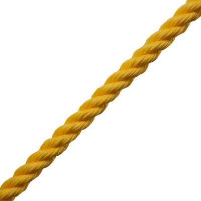 1/4 in. x 1 ft. Polypropylene Twist Rope, Yellow