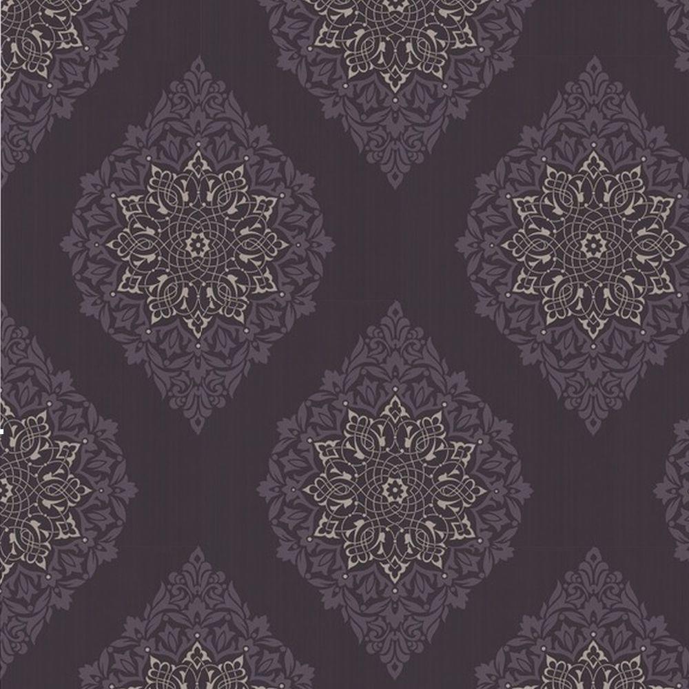 Graham & Brown 56 sq. ft. Tattoo Purple Wallpaper-DISCONTINUED