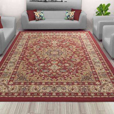 Sweet Home Collection Medallion Design Red 8 ft. x 10 ft. Indoor Area Rug