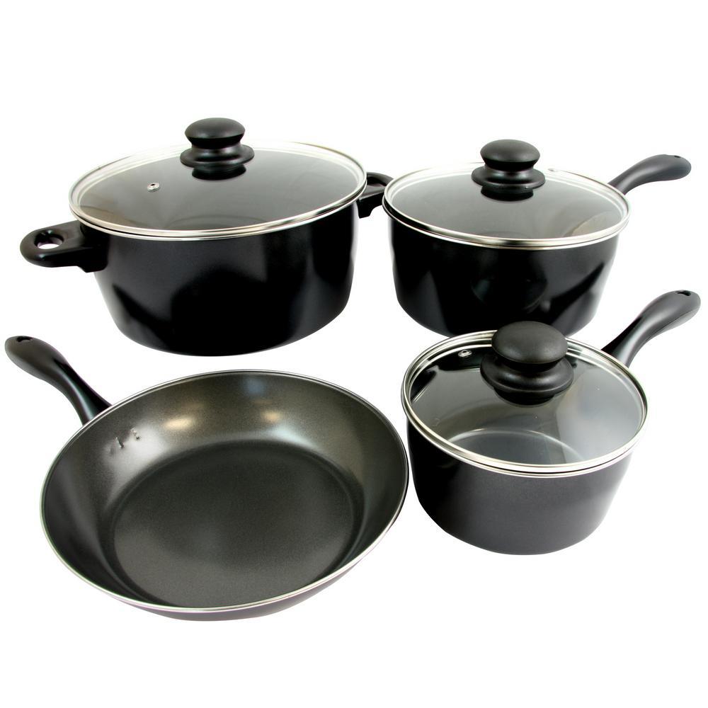 Armington 7-Piece Black Cookware Set with Lids